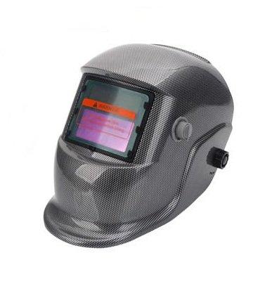 Pro Solar Auto Darkening Welding Helmet Arc Tig Mig Mask Grinding Welder Mask - Black White Block