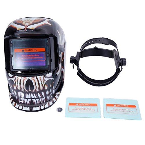 Pro Solar Auto Darkening Welding Helmet Arc Tig Mig Mask Grinding Welder Mask Death Skull