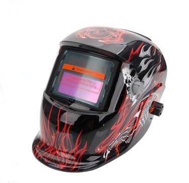 Pro Solar Auto Darkening Welding Helmet Arc Tig Mig Mask Grinding Welder Mask - Death Skull