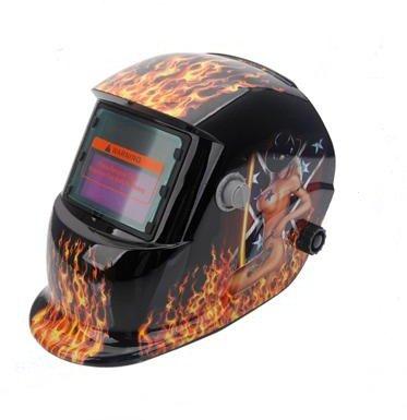 Pro Solar Auto Darkening Welding Helmet Arc Tig Mig Mask Grinding Welder Mask - Flame&Sexy Beauty