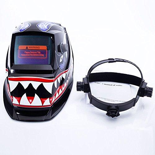 Pro Solar Auto Darkening Welding Helmet Arc Tig Mig Mask Grinding Welder Mask - Shark Mouth