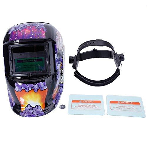 Pro Solar Auto Darkening Welding Helmet Arc Tig Mig Mask Grinding Welder Mask Upgraded version 2 lens - Clown