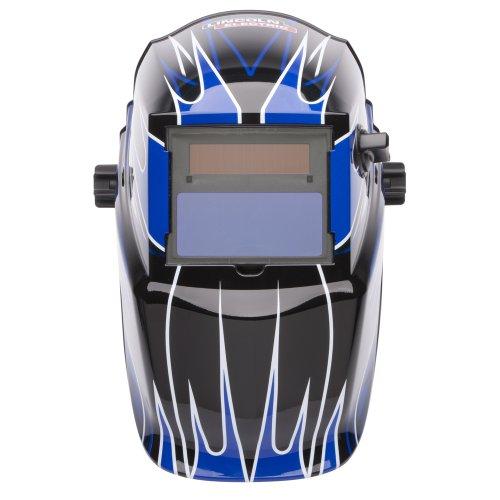 Lincoln Electric K3064-1 Variable Shade Auto-Darkening Welding Helmet Shade 9-13  Fierce Blue Pack of 1