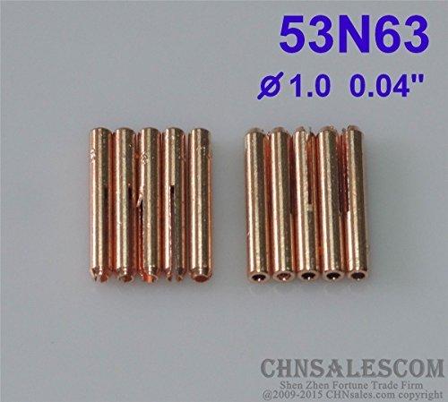 CHNsalescom 10 pcs 53N63 Gas len Collets for Tig Welding Torch WP-24 WP-24W 10mm 0040