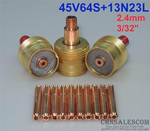 CHNsalescom 13 pcs Large Gas Len Collet Body 45V64S Collet 13N23L WP-92025 24mm 332
