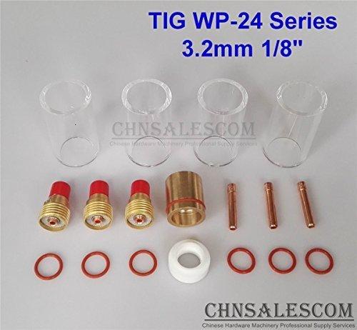 CHNsalescom 18 pcs TIG Welding Gas Len 12 42mm Pyrex Glass Cup Kit WP-24 Series 32mm 18