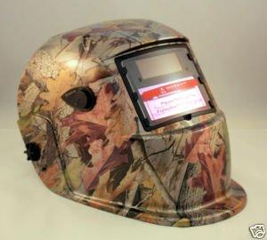 Solar Auto Darkening Welding Grinding Helmet Hood Mask Golden Leaf Camouflage