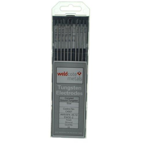 Weldcote TUNG116X7X2C 2 Ceriated Tungsten Electrode 116 X 7 Pkg 10