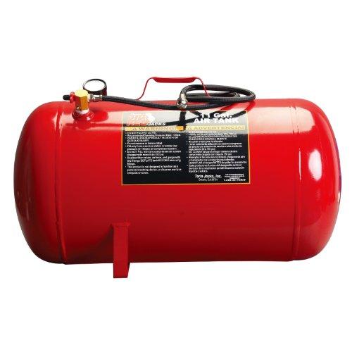 Torin Big Red Portable Horizontal Air Tank with 36 Hose 11 Gallon Capacity