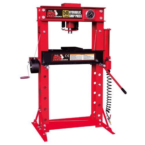Torin Big Red TRD55002 Steel Frame Hydraulic Shop Press 50 Ton Capacity