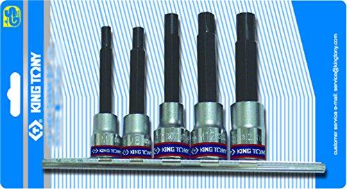 KT Pro Tools 3105PR 12 Drive 5-Piece Socket Rail Set