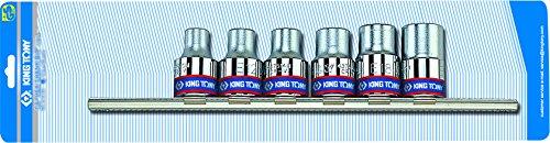 KT Pro Tools 4106PR 12 Drive 6-Piece Socket Rail Set