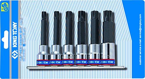 KT Pro Tools 4116PR 12 Drive 6-Piece Socket Rail Set