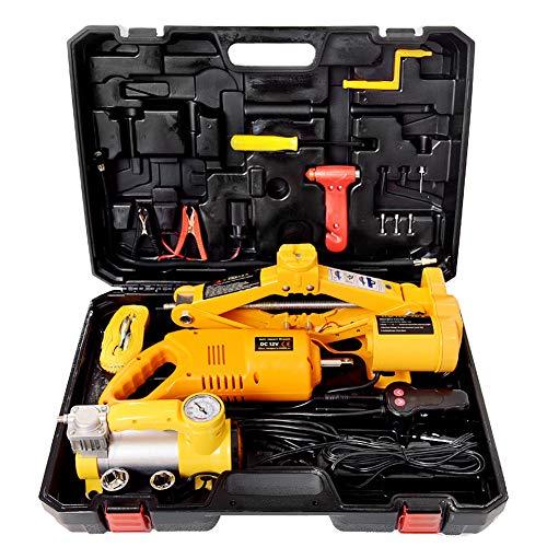CAPTIANKN Car Jack Kit 3 Ton Load-Bearing 12v Electric Scissor Jack Lift Air Pump Kit Electric Wrench Safety Hammer etc
