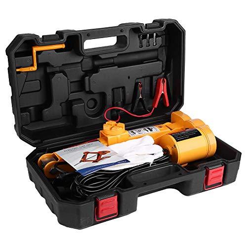 Qiilu 2 Ton Electric Car Floor Jack Automotive 12V Scissor Lift JackTire Change Repair Emergency Tool Kits