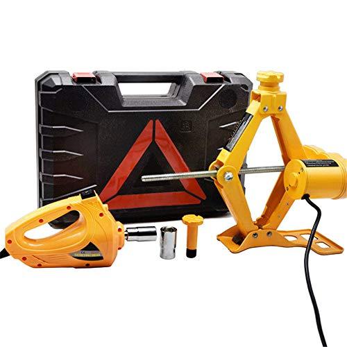 SMFYY Car Jack 3 Ton Load-Bearing 12V Electric Scissor Lift Car Electric Jack Set Wrench