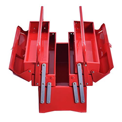 20 Portable 5 Trays Mechanic Garage Steel Cantilever Tool Box