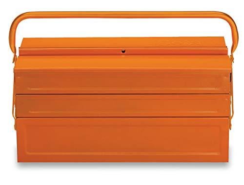 C20-FIVE-SECTION CANTILEVER STEEL TOOL BOX ORANGE EMPTY