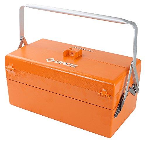 GROZ Cantilever Tool Box  Five Tray  Aluminum  Lightweight  Pad Lock Option 40004