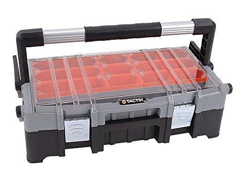Tactix 320300 22-Inch Cantilever Tool Box BlackOrange