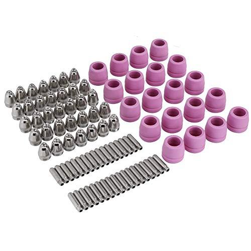 90Pcs Plasma Cutter Torch Consumables Electrode Nozzles Cups Kit Galvanized Copper Ceramic