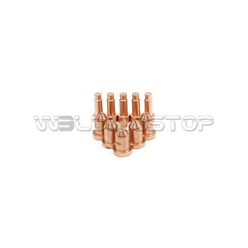WeldingStop 10 Pieces Plasma Cutting XT40 Torch Consumables Electrode 249926 Nozzle 40A 249928 Tip for Miller