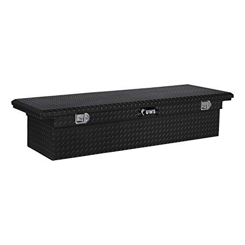 UWS EC10592 72-Inch Gloss Black Heavy-Wall Aluminum Truck Tool Box with Low Profile RigidCore Lid