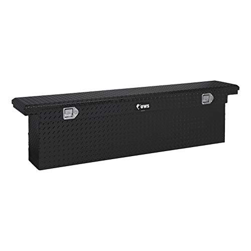 UWS EC10882 72-Inch Gloss Black Heavy-Wall Aluminum Deep Slim Truck Tool Box with Low Profile RigidCore Lid