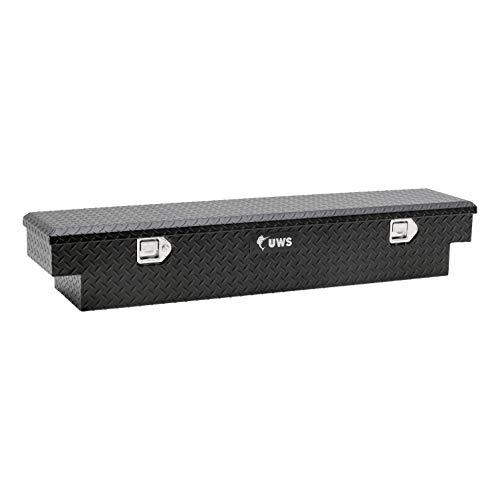 UWS EC10903-PR 59-Inch Matte Black Heavy-Wall Aluminum UTV Tool Box for Select Polaris Ranger RigidCore Lid