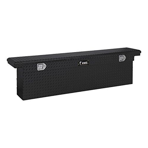 UWS TBSD-69-SL-LP-BLK Black Single Lid Slim Line Aluminum Toolbox with Beveled Insulated Lid