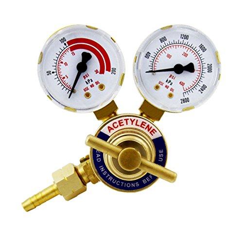 XtremepowerUS Welding Gas Welder Oxygen Acetylene Co2 Regulator Pressure Gauge Acetylene