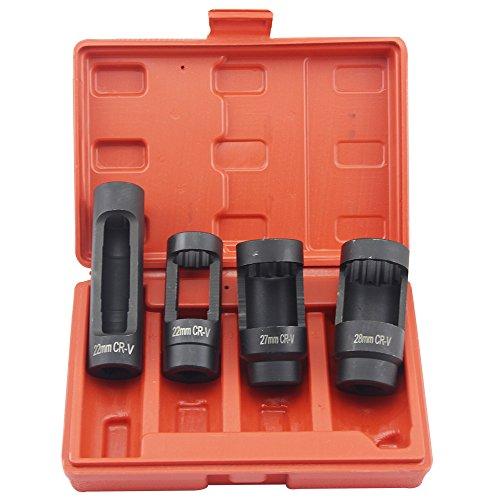 4pcs Euro-type Oxygen Sensor Socket Set Oxygen Sensor Removal Socket Wrench Tool Kit