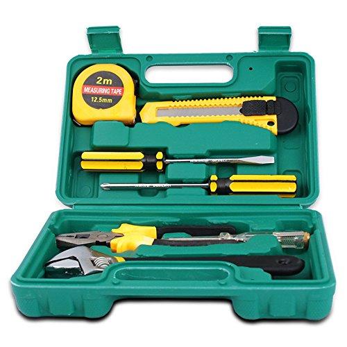 CTKcom 8-Piece Home Tool SetRepair Tool KitMulti-Tool Household Hand Tool Kit Precision Hardware Tool Set for Home Maintenance with Plastic Toolbox Storage Case