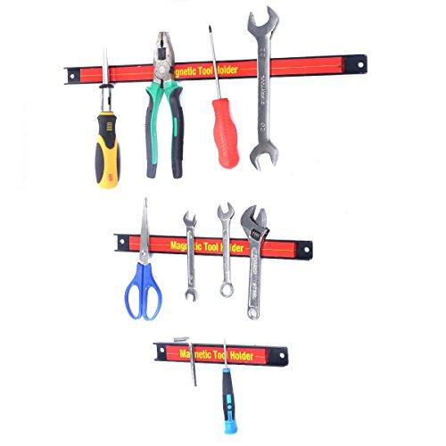 Custpromo 8 12 18 Magnetic Holder Bar Storage Rack Knife Wrench Tool Organizer Set