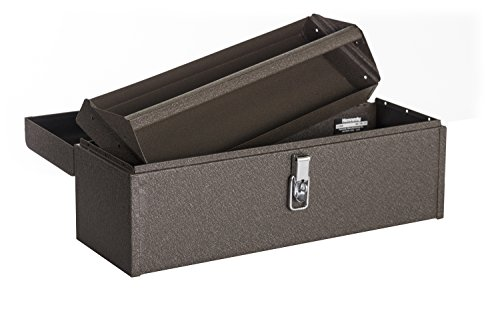 Kennedy Manufacturing 5220B 20 Hand-Carry Tool Box with Tote Tray Tan Brown Wrinkle