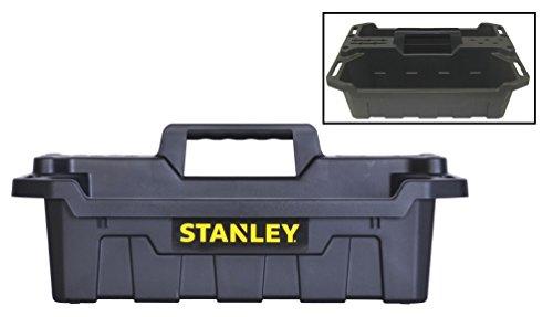 Stanley STST41001 1934 X 13 X 76 Black Portable Storage Tote Tray