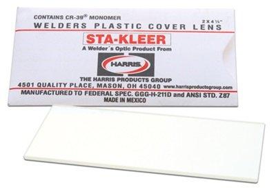Harris Welding HelmetHood Clear Lens Cover 2 x 425 10 pack 1010010