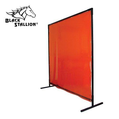 Revco 6X8VF1-ORA 6X8 14 mil 1 Panel Orange Saf-Vu Welding Screen with Frame