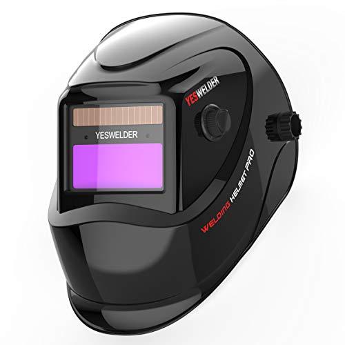 YESWELDER True Color Solar Powered Auto Darkening Welding Helmet Wide Shade 49-13 for TIG MIG ARC Weld Hood Helmet