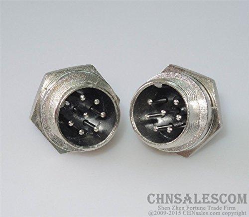 CHNsalescom 2 pcs 7 Pin GX16-7P Plug Male Connector Welding Machine Control Line Fast Joint