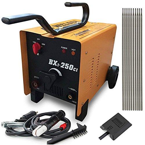 Cu ALightup Commercial 110V220V ARC 250 AMP Welder Welding Machine Soldering Accessories Tools Yellow