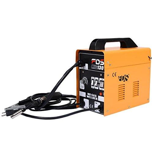 Goplus MIG 130 Welder Flux Core Wire Automatic Feed Welding Machine w Free Mask