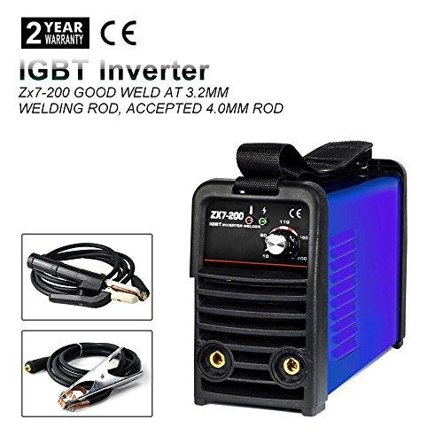 IGBT 110V MMA ARC Welding Machine - Tosense ZX7-200 Exclusive 110V 200A DC Inverter Portable Stick Welding Equipment For 32-40MM Rod