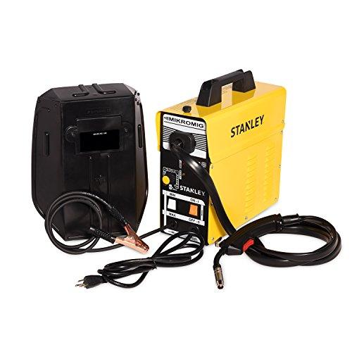 "Stanley 120V MIKROMIG Welding Machine – Portable 80-Amp Flux-Cored Mild Steel Welder for Home Professional Use – 144"" x 55"" x 142"""