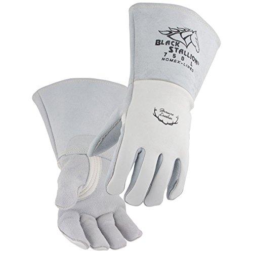 Black Stallion 750 Premium Grain Elkskin Stick Welding Gloves Large