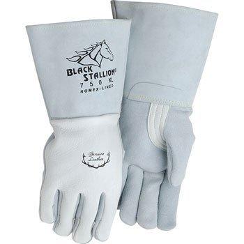 Black Stallion 750 Premium Grain Elkskin Stick Welding Gloves Medium