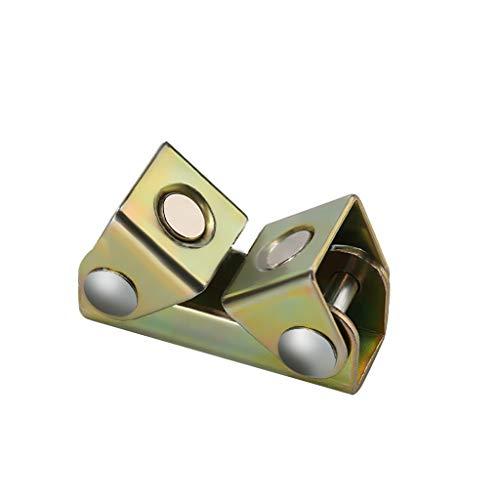 ❤SU&YU❤V Type Magnetic Welding Clamps Holder Suspender Fixture Adjustable V Pads Strong Golden Yellow