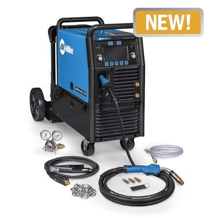 Miller 951766 Millermatic 255 MIGPulsed MIG Welder wEZ-Latch Running Gear- 208240V