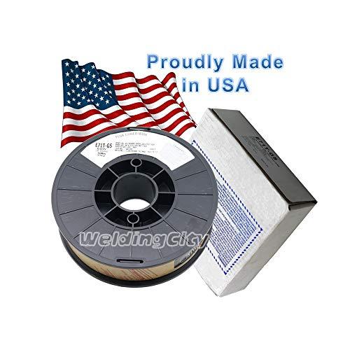 WeldingCity USA Made Gasless Flux Core E71T-GS 10-Lb Spool 0035 Mild Steel MIG Welding Wire