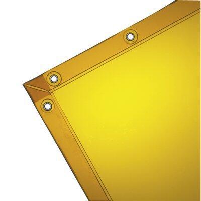 See-Thru Welding Curtains - wilson 6h x 10w gold14 mil see-thru curtain